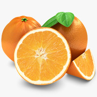 Orange fruit 3D models