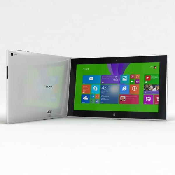 Nokia Lumia 2520 White 3D Models