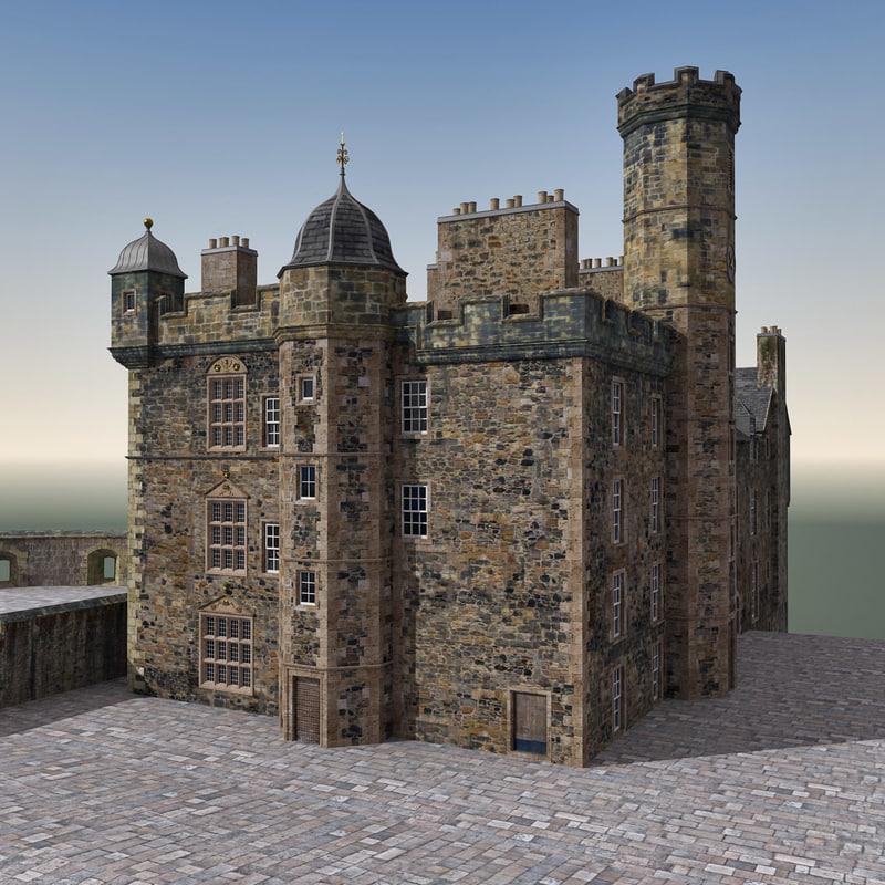 Light Shop In Edinburgh: 3d Edinburgh Castle Scene Model