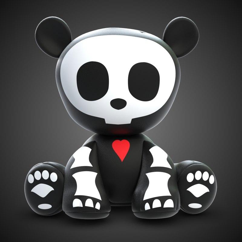 Skelanimal Andy Panda Toy