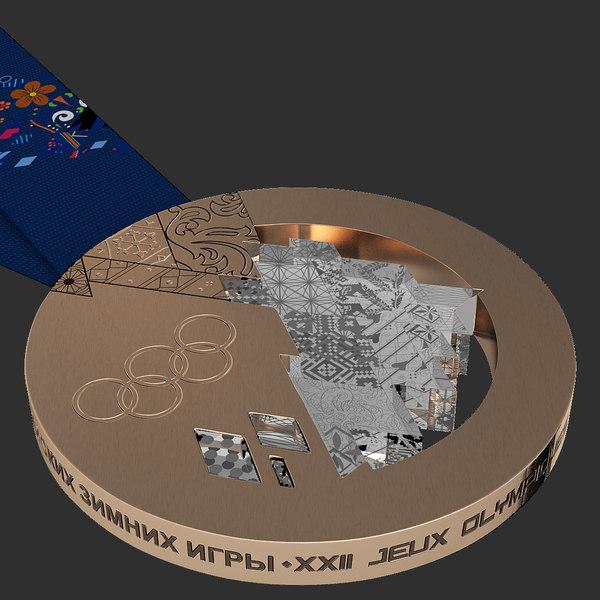 Olympic Bronze Medal Sochi 20 3D Models