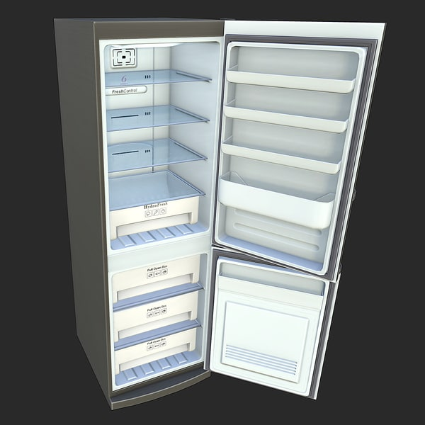 Refrigerator Game Ready 3D Models