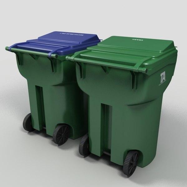 Trash Bins 3D Models