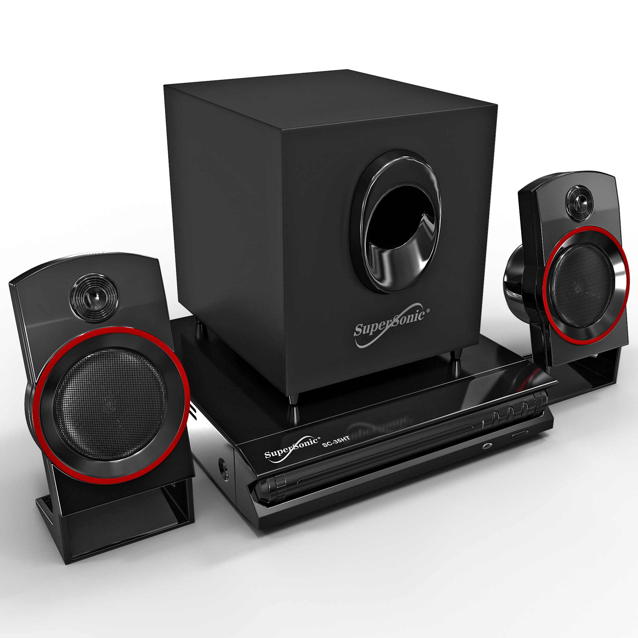 Supersonic   Channel Dvd Home Theater System Sc Ht