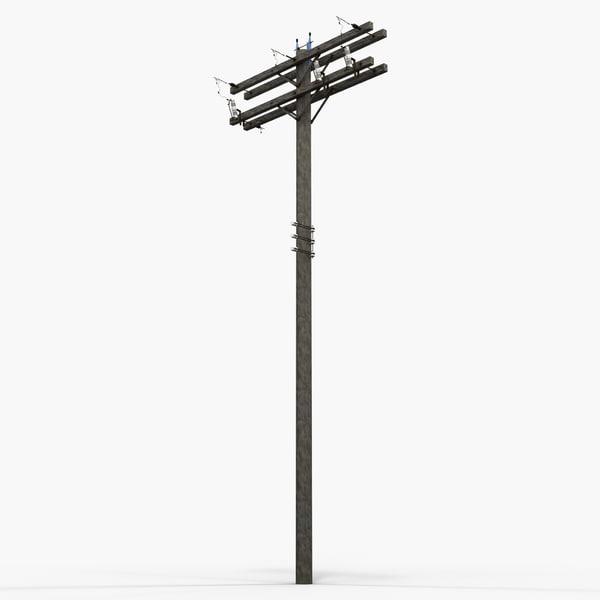 Utility Pole 2 3D Models