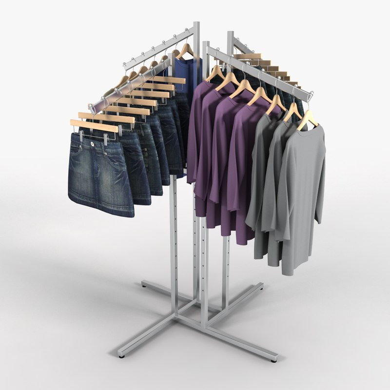 Women's Skirt and Shirt Rack