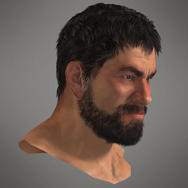 Human Head Set 5 3D Models