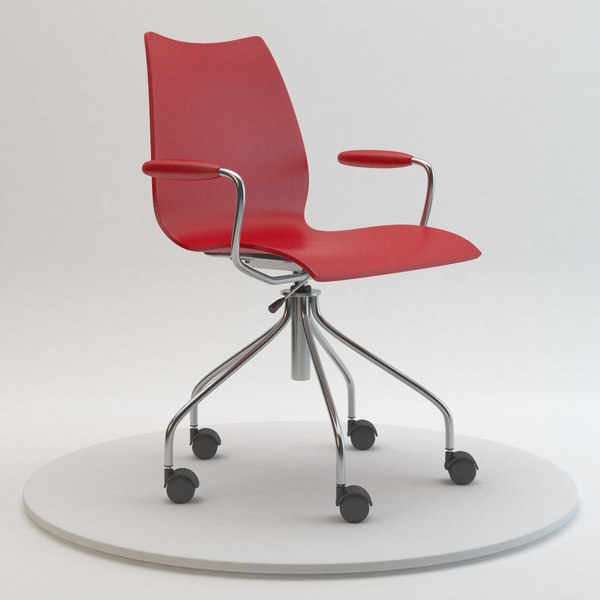 Kartell Maui Armchair on Casters 3D Models