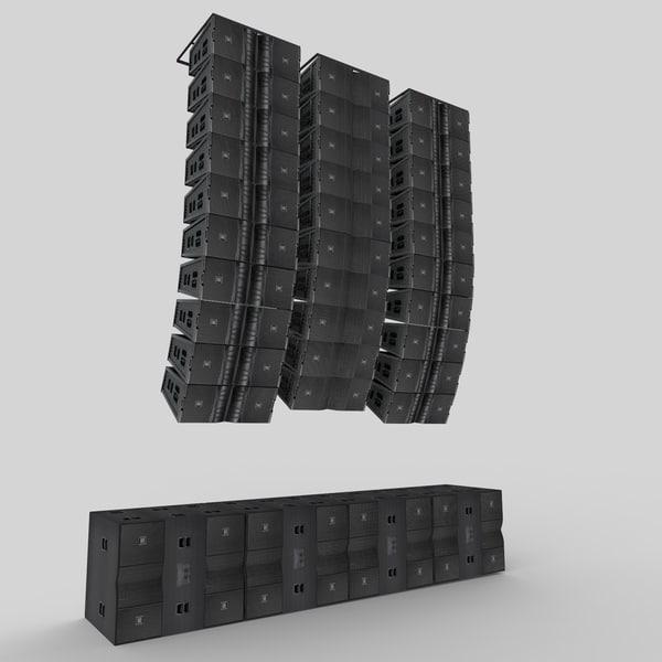 JBL VTX Line Array Sytem 3D Models