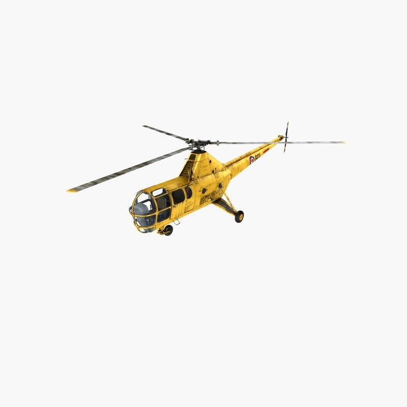 Sikorsky H-5 4 Rigged