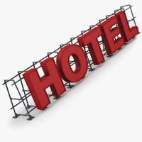 Hotel Sign 3D models