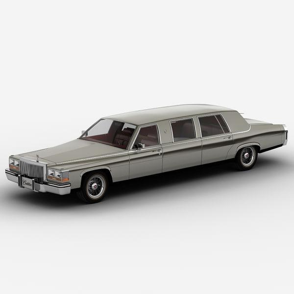 Cadillac Fleetwood limousine 1986 3D Models