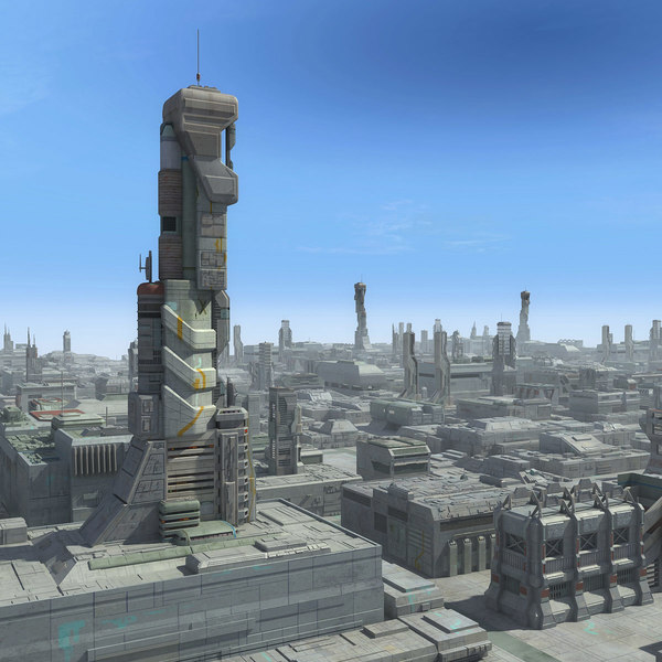 Sci-Fi City Cityscape 3D Models