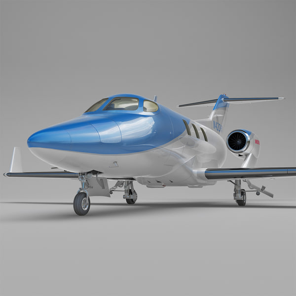 Business Jet Honda HA-420 HondaJet Rigged 3D Models
