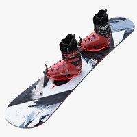 snowboarding 3d models