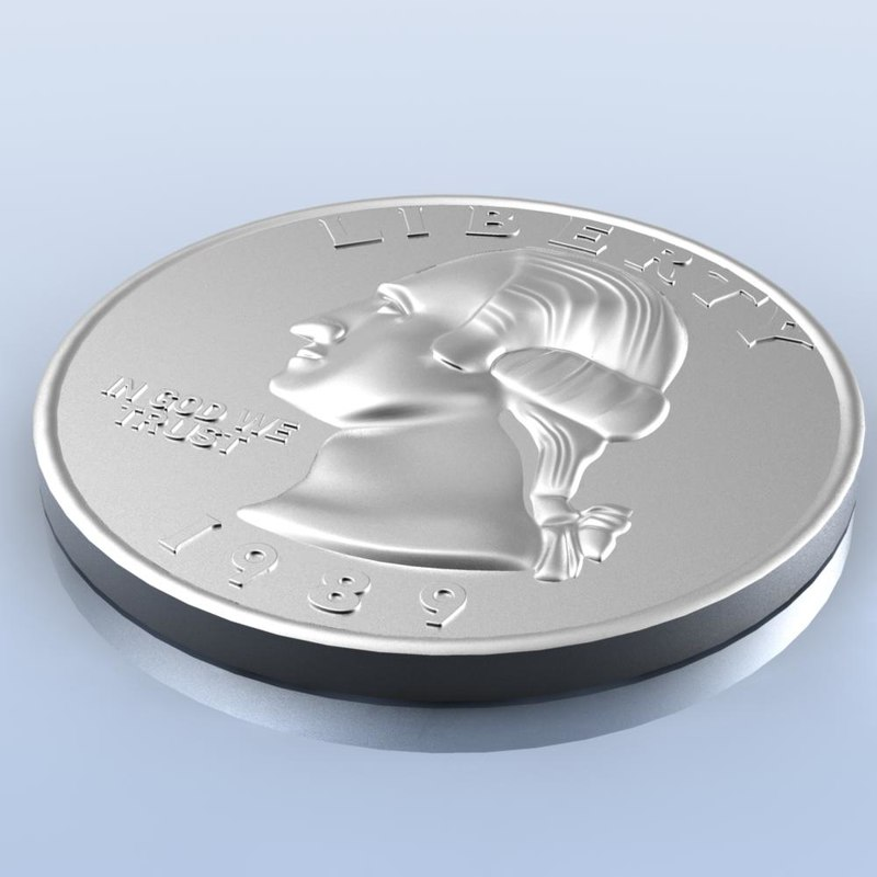 Coin free 3d model : FOREX Trading