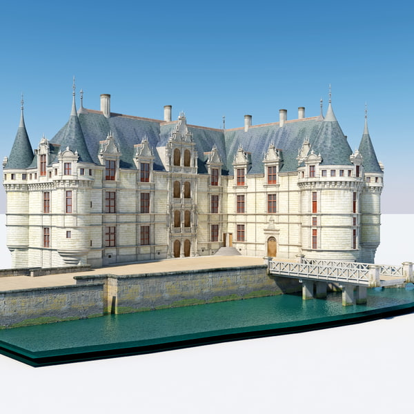 Castle Azay le Rideau France 3D Models