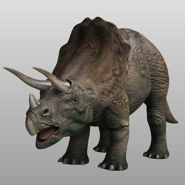 3D Triceratops Models Max 3ds Obj Ma Fbx