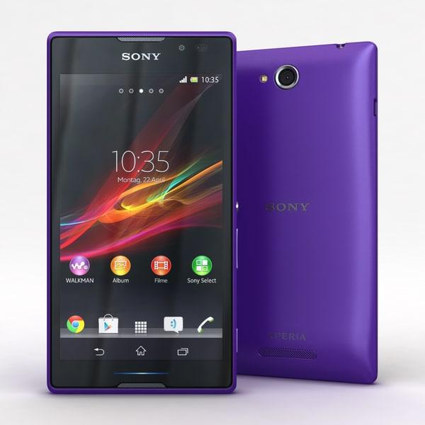 Sony Xperia C Purple Texture Maps