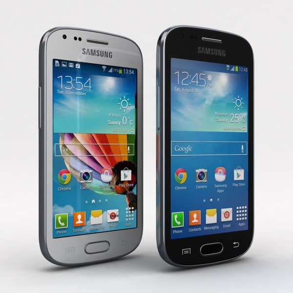 Samsung Galaxy S Duos 2 & Trend Plus All Color 3D Models