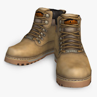 work boots 3D models