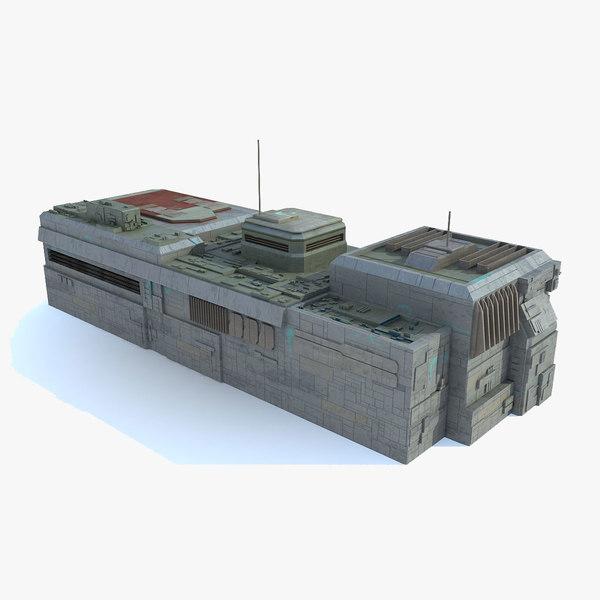 Sci-Fi Building - C space station 3D Models