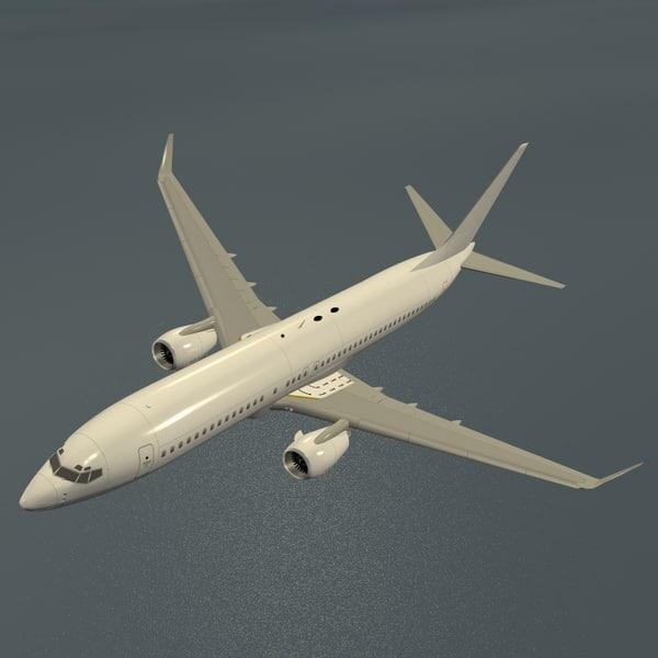 B 737-800 Airplane 3D Models
