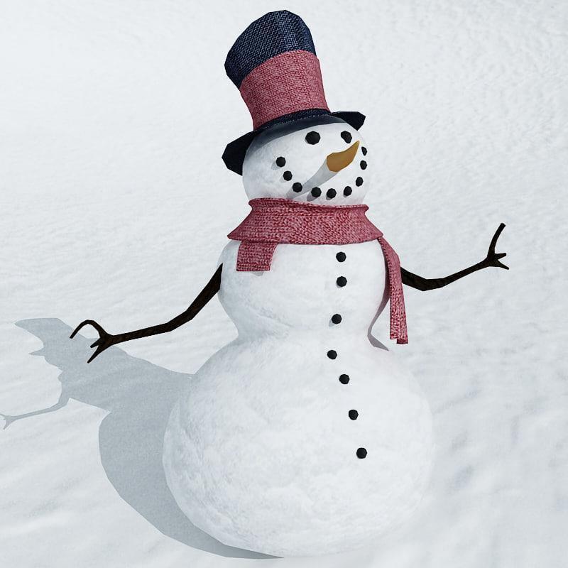 Realistic Snowman D