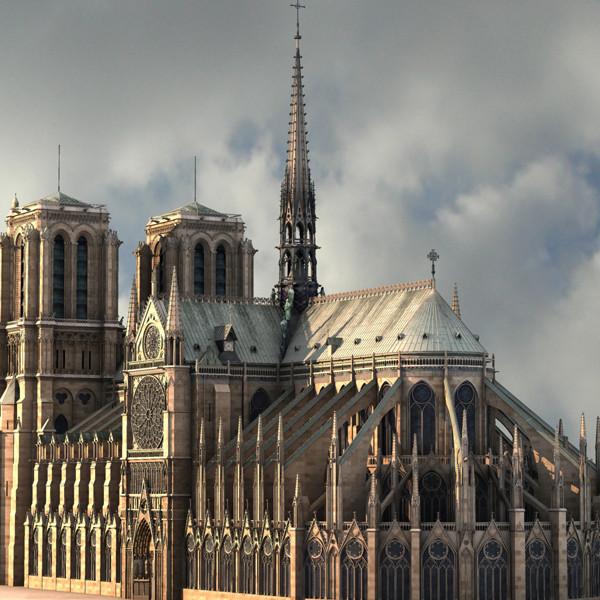 Notre Dame de Paris 3D Models
