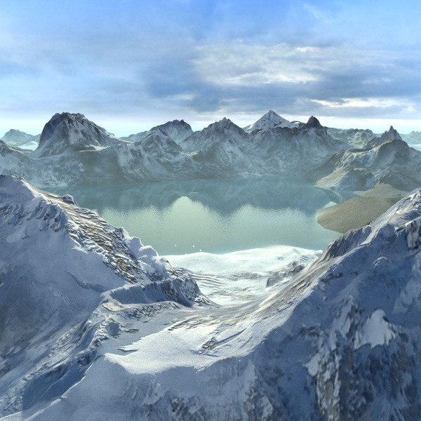 Landscape Snowy Alaska 3D Models