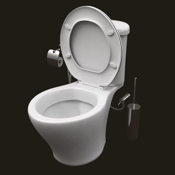 Flush Toilet 3D Models