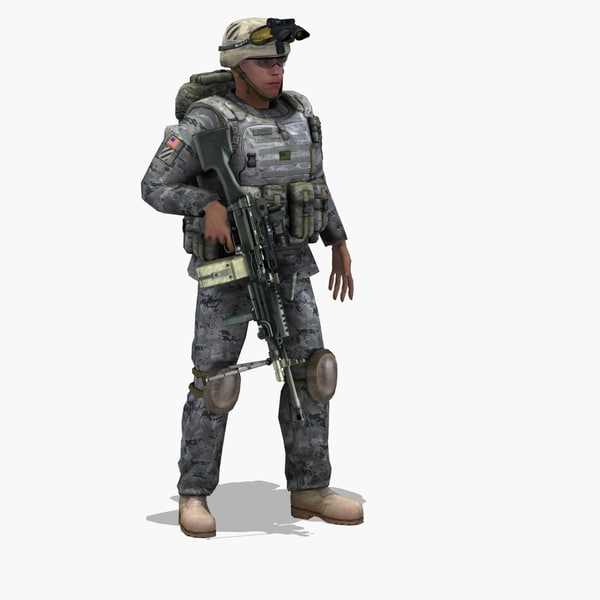 USArmy Infantry 2011 3DSMax 3D Models