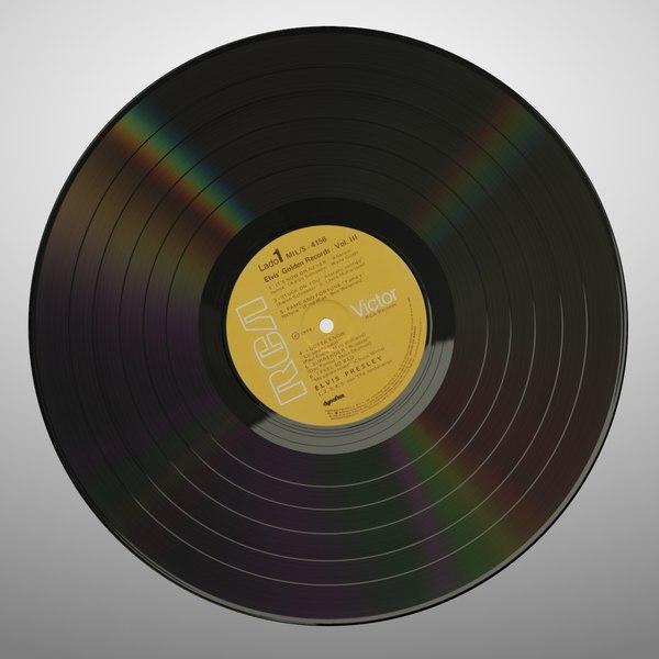 Vinyl 3D Models
