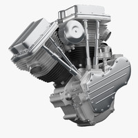 motorcycle engine 3D models