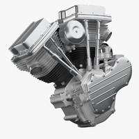 motorcycle engine 3D models