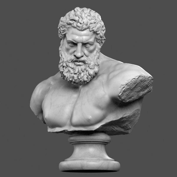 Hercules Bust 3D Models