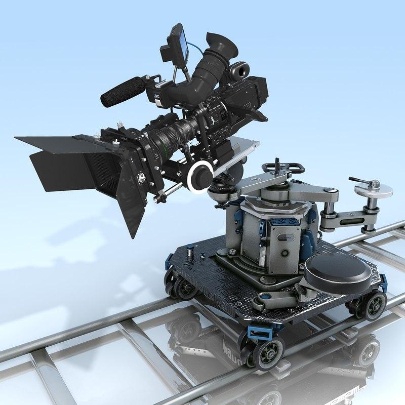 Camcorder.JVC GY-HD110U.Magnum Dolly.MAX