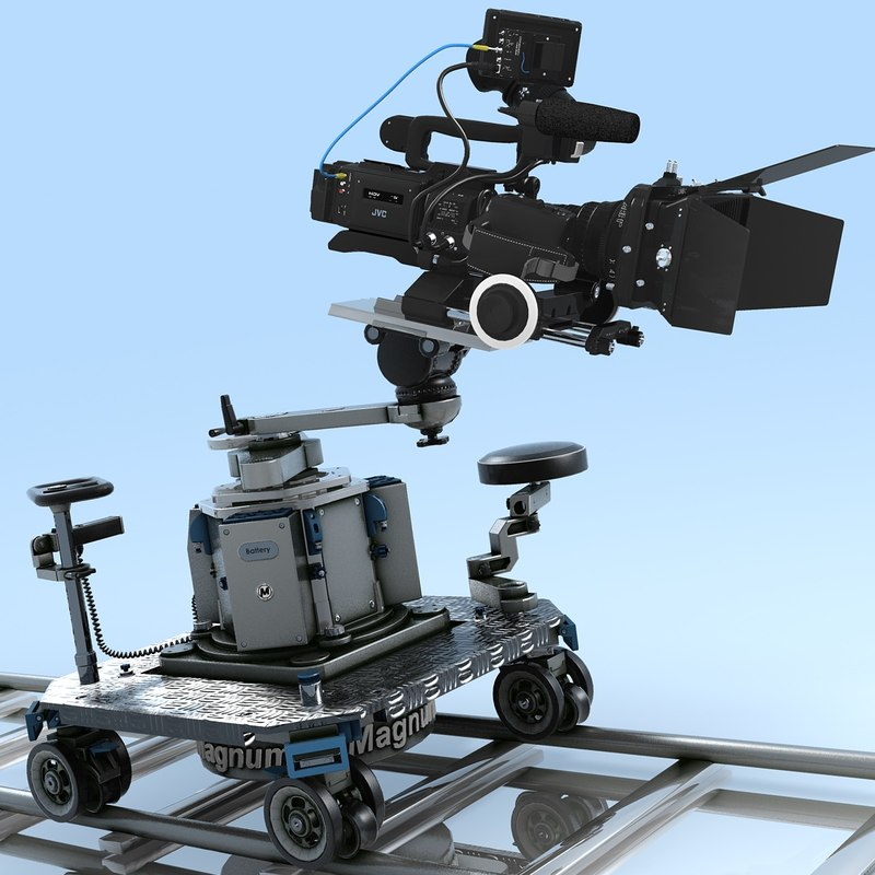 Camcorder.JVC GY-HD110U.Magnum Dolly.MF