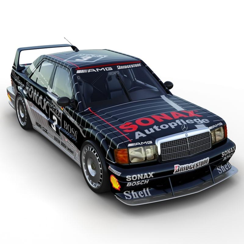 3d mercedes benz 190e dtm race car for Mercedes benz race car