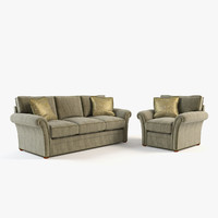 living room set 3D models