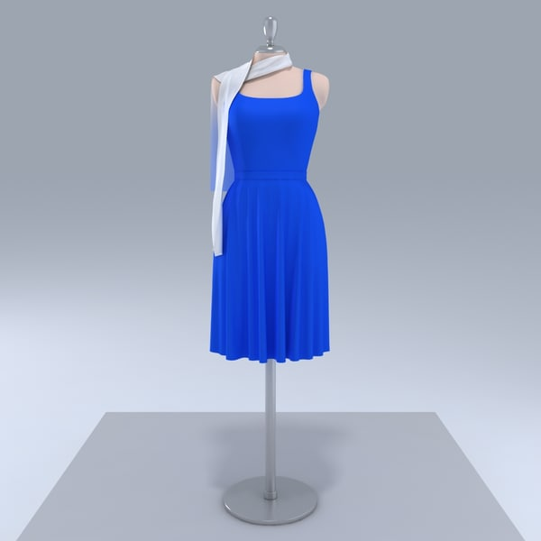 Showroom Dummy - Elegant Dress 3D Models