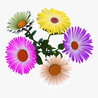 cartoon flower 3D models