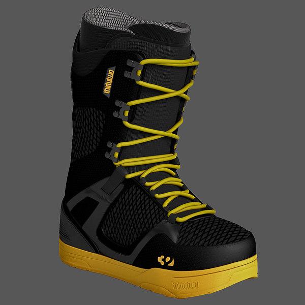 Snowboard Soft Boot 3D Models