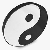 yin and yang 3D models