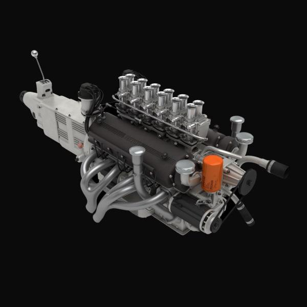 Ferrari V12 Engine (3L) 3D Models
