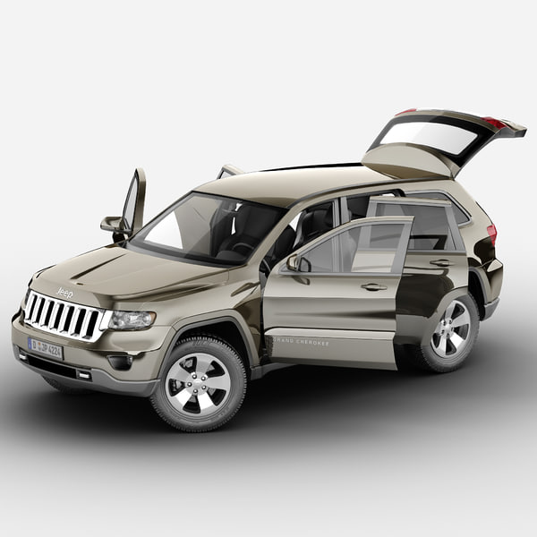 Jeep Grand Cherokee 2012 Rigged 3D Models