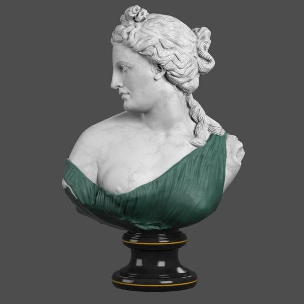 Aphrodite Kallipygos Bust 3D Models