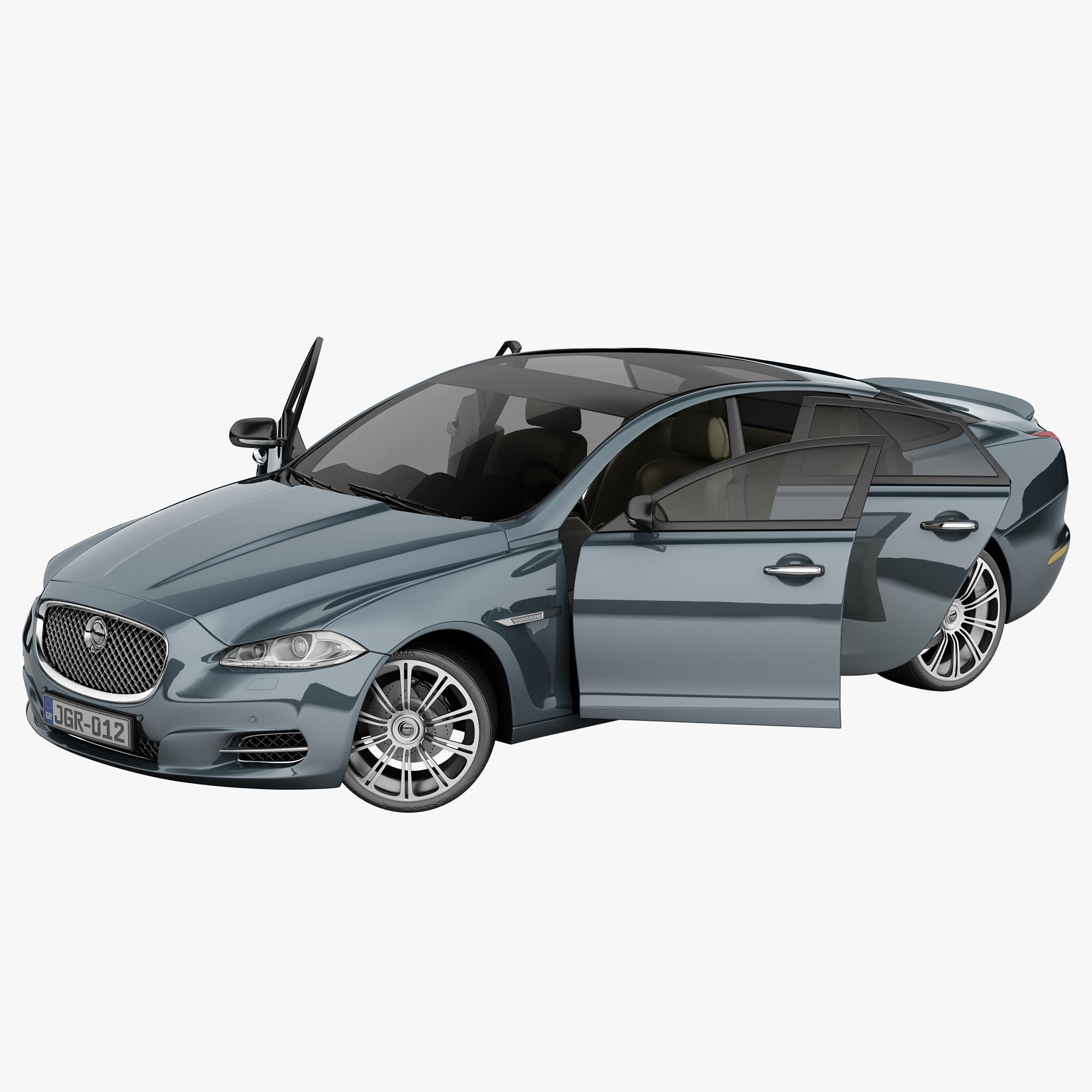 Jaguar Xj Lease: Xj Rigged Car 3d Model