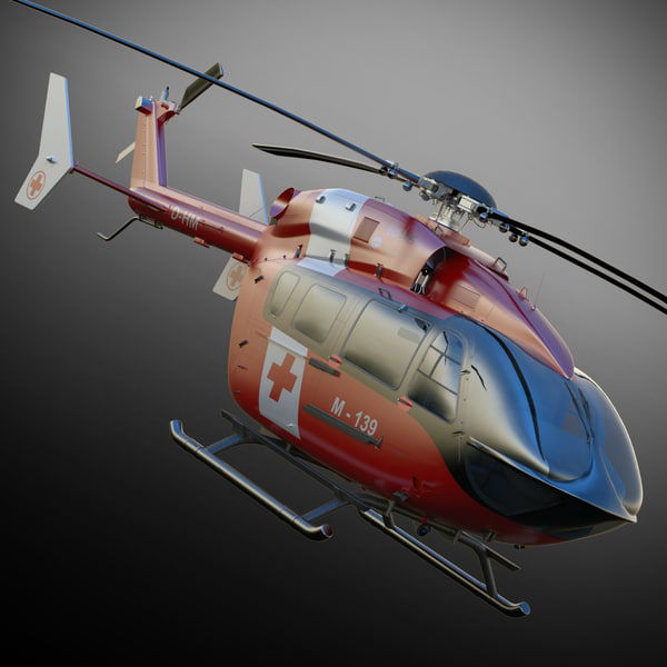 Eurocopter EC145 Ambulance 3D Models