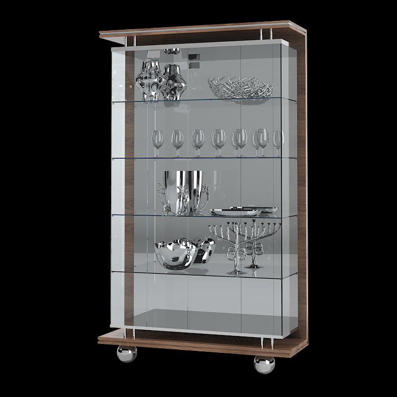 Turri Evolution leather showcase modern contemporary glass cupboard tableware _1.jpg